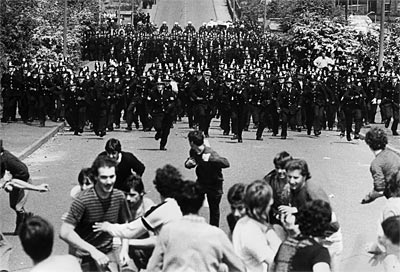 Police Charge Striking Miners At Orgreave