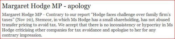 hodge apology