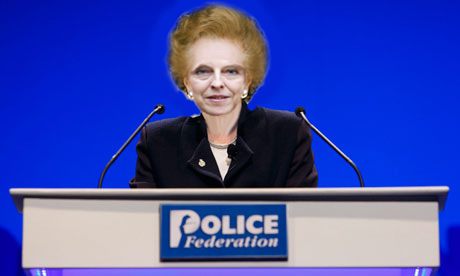 T - M May MP/PM At The Police Federation Today