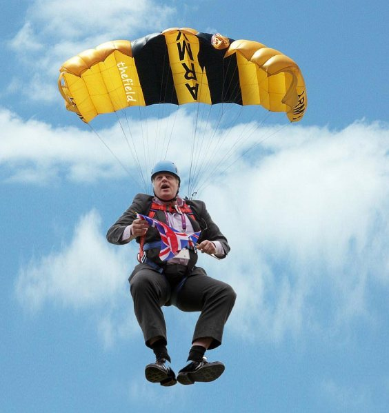 parachuted-in