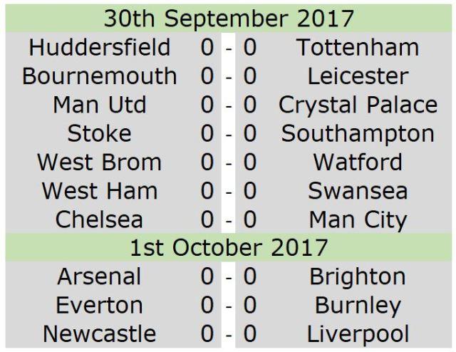 30th fixtures