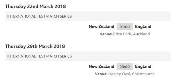 march verses New Zealand